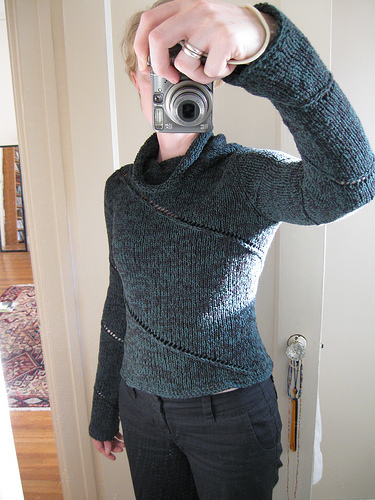 Traveling Eyelet Sweater
