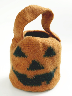 Crochet Pumpkin Treat Bag