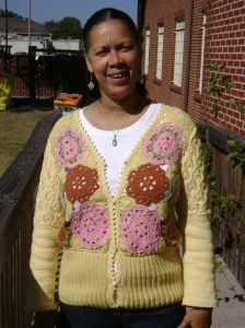 Love Poem Cardigan by Erika (front)