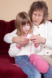 There is great joy in teaching the next generation to crochet.(illustrative photo - not Karen and daughter)
