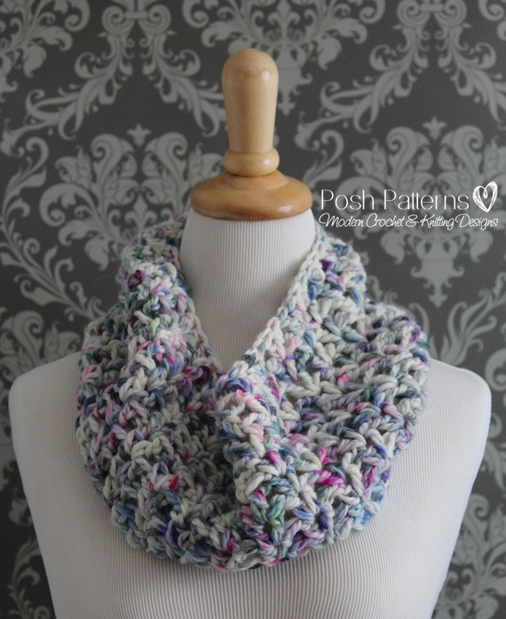 crochet cowl pattern Laurel Hill post